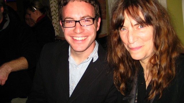 Patti Smith and me, after R.E.M.'s last ever performance as a band, for one song. New York City, March 11, 2009